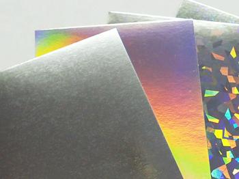 蒸着紙やホログラムフィルム貼合紙