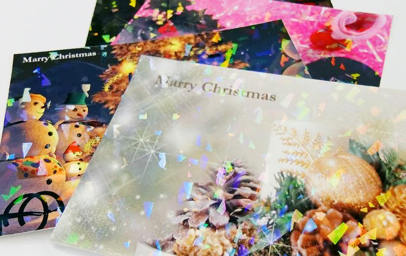 クリスマスにぴったり!ホログラム加工でより華やかに!
